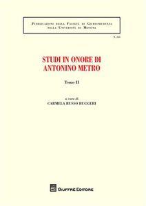 Libro Studi in onore di Antonino Metro