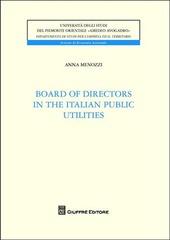 Board of directors in the italian utilities