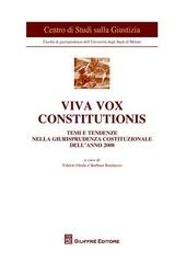 Viva vox constitutionis. Temi e tendenze nella giurisprudenza costituzionale dell'anno 2008