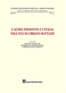 Libro L' altro Piemonte e l'Italia nell'età di Urbano Rattazzi