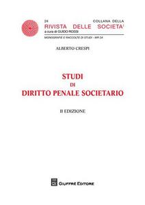 Libro Studi di diritto penale societario Alberto Crespi