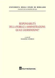 Foto Cover di Responsabilità della pubblica amministrazione: quale giurisdizione?, Libro di  edito da Giuffrè