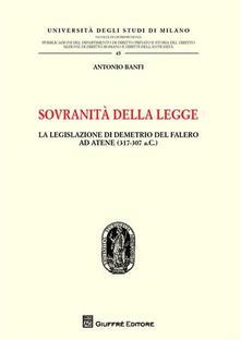 Voluntariadobaleares2014.es Sovranità della legge. La legislazione di Demetrio del Falero ad Atene (317-307 a. C.) Image