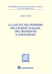 La laicità nel pensiero dei giuristi italiani. Tra tradizione e innovazione