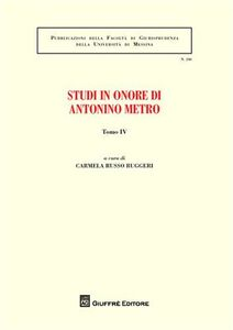 Foto Cover di Studi in onore di Antonino Metro. Vol. 4, Libro di  edito da Giuffrè