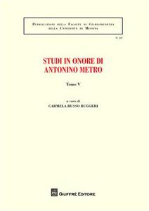 Libro Studi in onore di Antonino Metro. Vol. 4