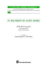 In ricordo di Aldo Moro. Atti del Convegno (Bari, 20 giugno 2008)