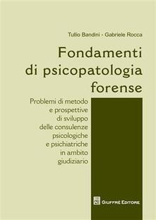 Librisulladiversita.it Fondamenti di psicopatologia forense Image
