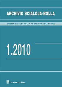 Libro Archivio Scialoja-Bolla (2010). Vol. 1