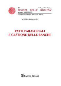 Libro Patti parasociali e gestione delle banche Alessandra Rosa