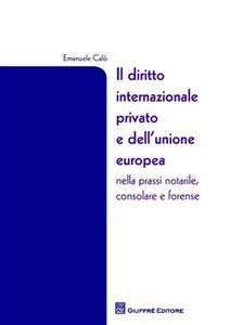 Il diritto internazionale privato e dell'Unione Europea nella prassi notarile, consolare e forense