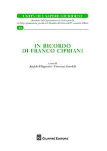 Foto Cover di In ricordo di Fabio Cipriani, Libro di  edito da Giuffrè