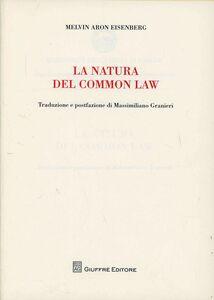 Libro La natura del Common Law Melvin A. Eisenberg