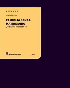 Foto Cover di Famiglia senza matrimonio. Questioni processuali, Libro di Giosetta Pianezze, edito da Giuffrè