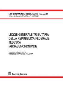 Libro Legge generale tributaria della Repubblica Federale Tedesca (adgabenordnung)