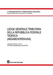 Legge generale tributaria della Repubblica Federale Tedesca (adgabenordnung)