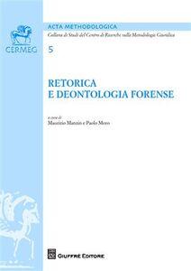 Libro Retorica e deontologia forense