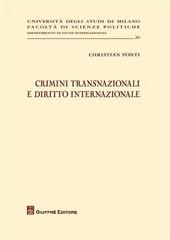 Crimini transnazionali e diritto internazionale