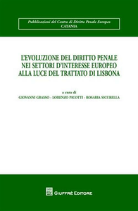 Libro L' evoluzione del diritto penale nei settori d'interesse europeo alla luce del Trattato di Lisbona