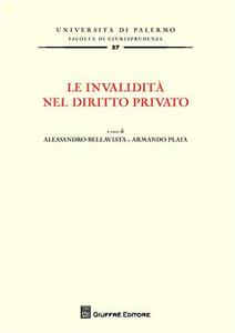 Libro Le invalidità nel diritto privato