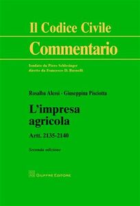 Libro L' impresa agricola Rosalba Alessi , Giuseppina Pisciotta