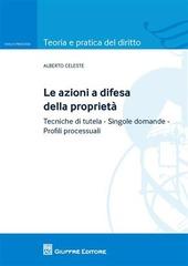 Le azioni a difesa della proprietà. tecniche di tutela. Singole domande. Profili processuali