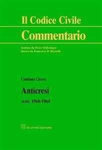 Libro Anticresi. Artt. 1960-1964 Cristiano Cicero