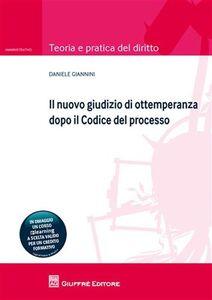 Foto Cover di Il nuovo giudizio di ottemperanza dopo il codice del processo, Libro di Daniele Giannini, edito da Giuffrè
