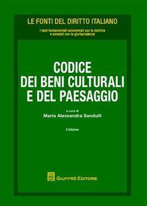 Foto Cover di Codice dei beni culturali e del paesaggio, Libro di  edito da Giuffrè