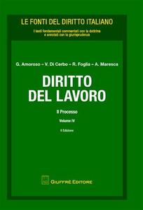 Libro Diritto del lavoro. Vol. 4: Il processo.