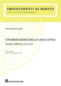 Libro L' introduzione della causa civile. Analogie e differenze nei vari riti Vito Amendolagine