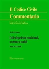 Delle disposizioni condizionali, a termine e modali. Artt. 633-648