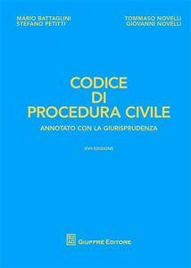 Foto Cover di Codice di procedura civile. Annotato con la giurisprudenza, Libro di  edito da Giuffrè