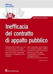 Inefficacia del contratto di appalto pubblico