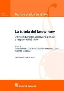 Libro La tutela del know-how. Diritto industriale, del lavoro, penale e responsabilità civile