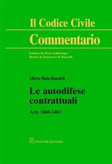 Le autodifese contrattuali. Artt. 1460-1462