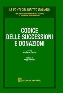 Foto Cover di Codice delle successioni e donazioni. Vol. 2: Leggi collegate., Libro di  edito da Giuffrè
