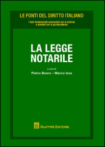 Foto Cover di La legge notarile, Libro di  edito da Giuffrè