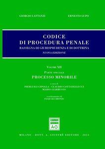 Foto Cover di Codice di procedura penale. Rassegna di giurisprudenza e di dottrina. Vol. 12: Parte speciale. Processo minorile., Libro di  edito da Giuffrè