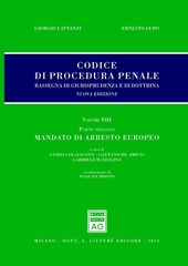 Codice di procedura penale. Rassegna di giurisprudenza e di dottrina. Vol. 13: Parte speciale. Mandato di arresto europeo.