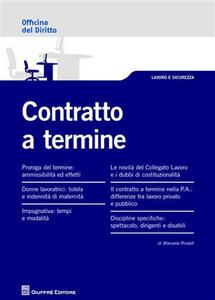 Libro Contratto a termine Manuela Rinaldi