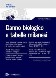 Libro Danno biologico e tabelle milanesi Paolo Cendon , Antonello Negro