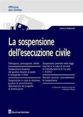La sospensione dell'esecuzione civile