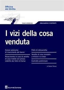 Libro I vizi della cosa venduta Natale Ferrara