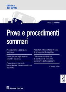 Libro Prove e procedimenti sommari Antonio Salvati