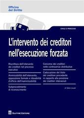 L' intervento dei creditori nell'esecuzione forzata