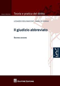 Libro Il giudizio abbreviato Mario De Gregorio , Leonardo Degl'Innocenti
