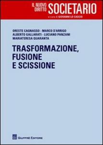 Libro Trasformazione, fusione e scissione