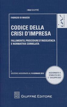 Codice della crisi d'impresa. Fallimento, procedure d'insolvenza e normativa correlata