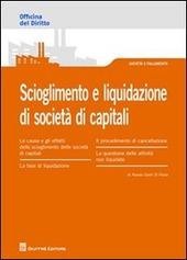 Scioglimento e liquidazione di società di capitali